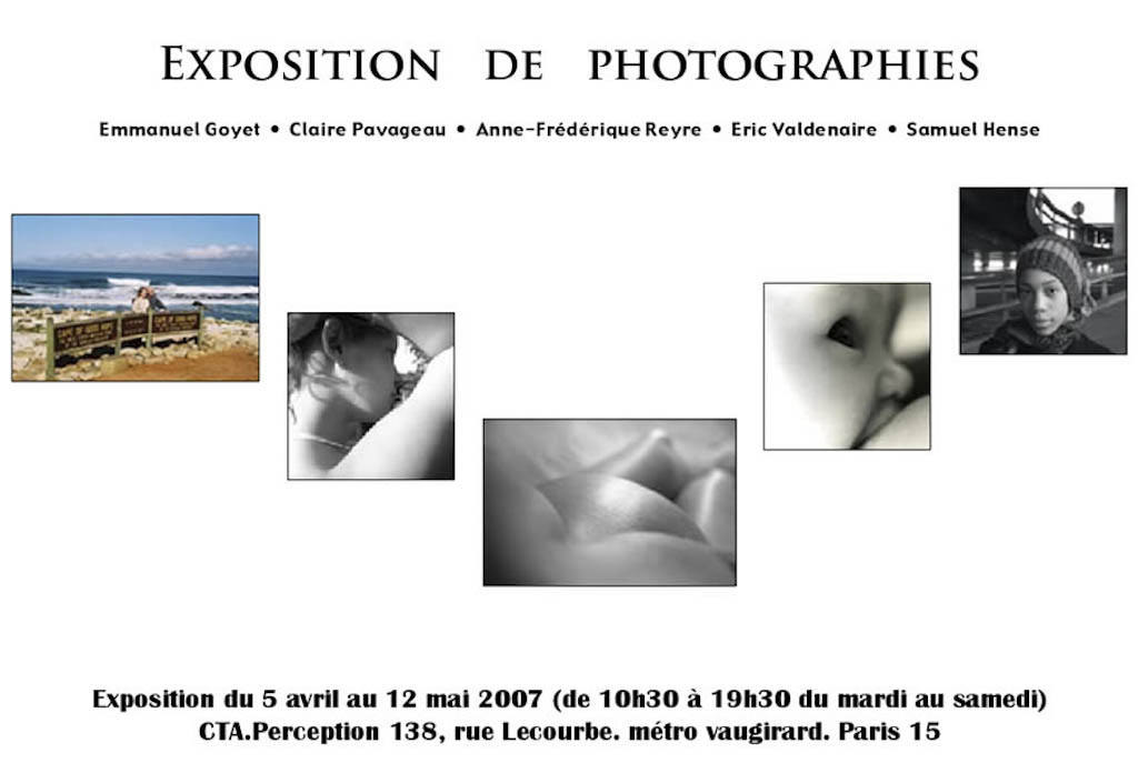 "Affiche de l'exposition ""13h29"" chez CTA-Perception à Paris"