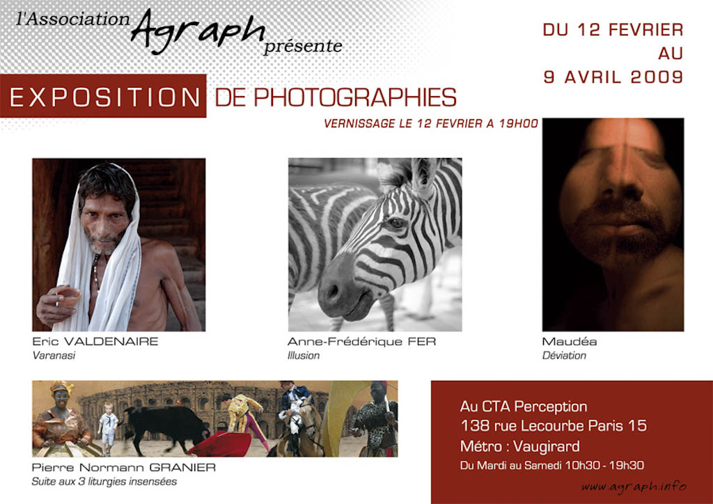 "Affiche de l'exposition ""Varanasi"" chez CTA-Perception à Paris"