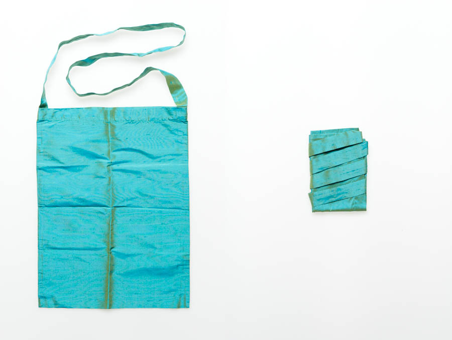 Raw silk bag
