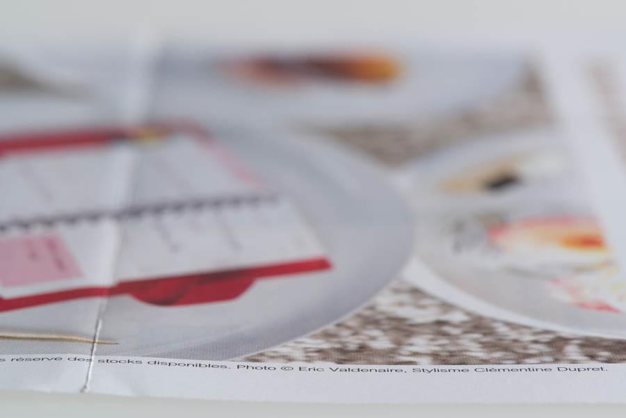 "Paper mailing of Visa Classic ""Femme"" Agenda - Detail"
