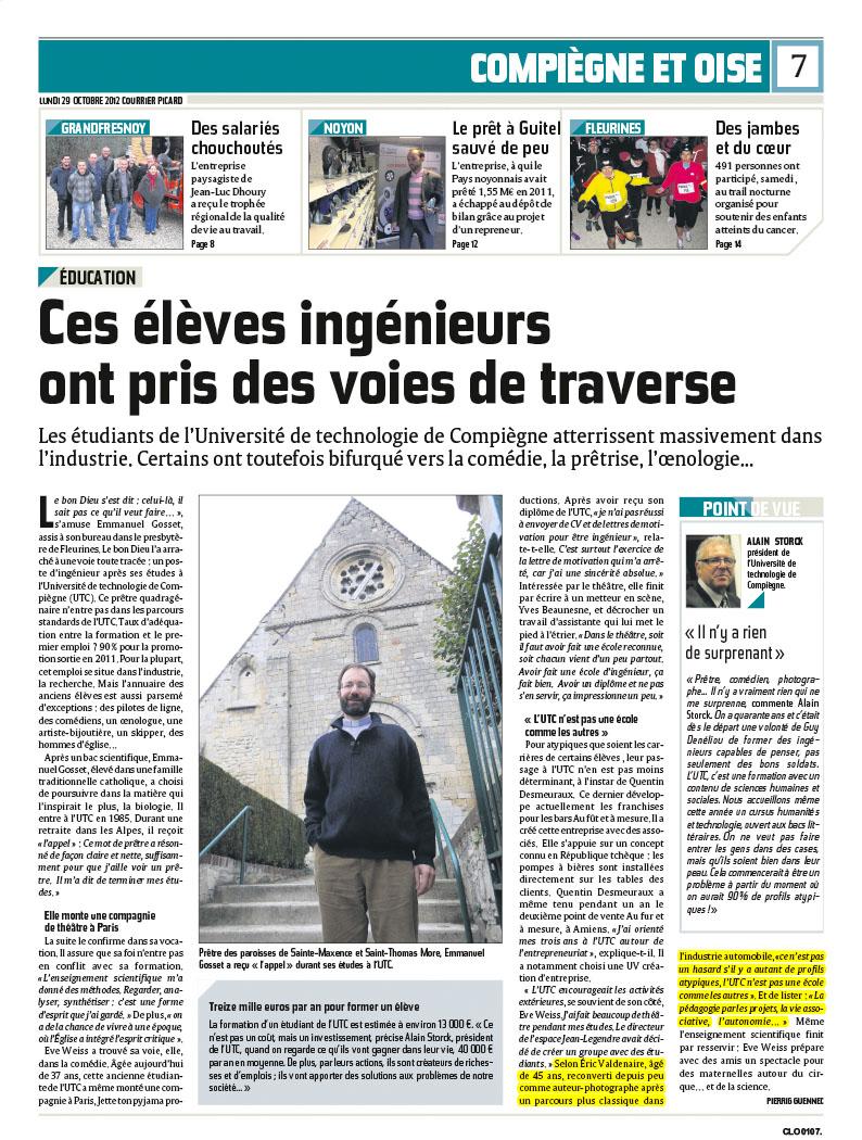 Le Courrier Picard 29/10/2012
