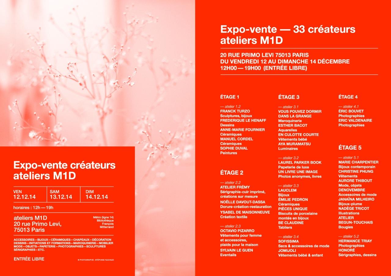 Expo-vente créateurs ateliers M1D