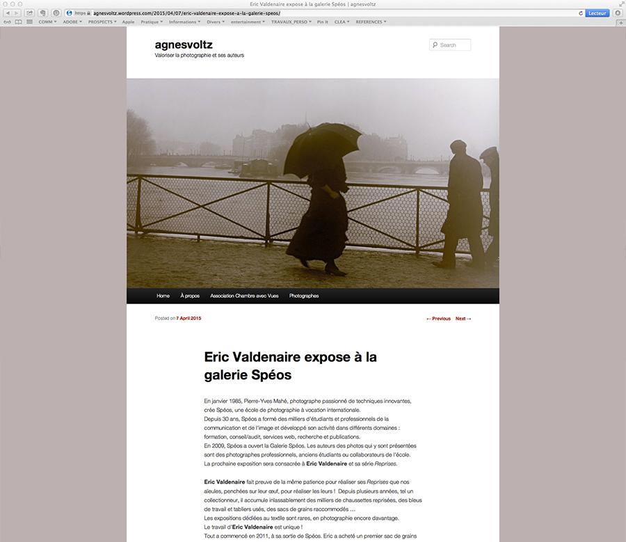 """Article d'Agnès Voltz à propos de l'exposition """"Reprises"""""""