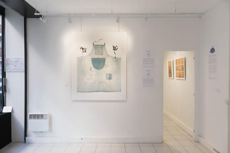"""Vue de l'exposition """"Reprises"""" à la galerie SPEOS"""